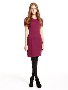 Short Sleeve Crewneck Dress (Potion). DKNY. $335.00