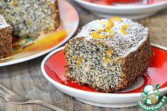 Кекс с маком и апельсином постный - кулинарный рецепт