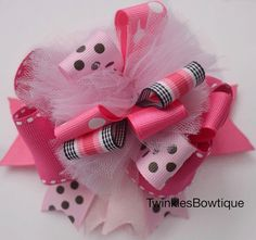 Super cute puffy boutique stacked hairbow for by TwinklesBowtique, $6.00