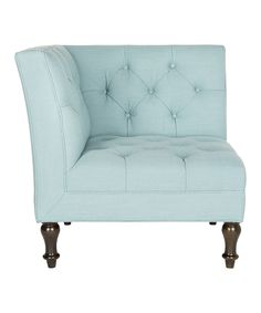 Robin's Egg Blue Corner Chair