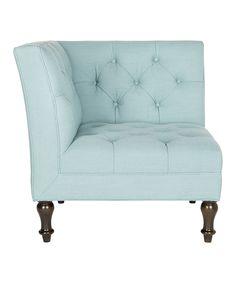 Robin's Egg Blue Corner Chair