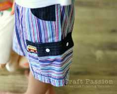 Make your boy cargo shorts this summer that he'll actually wear. These sewing shorts instructions feature a roomy cargo pocket. Learn how to make shorts with this simple sewing project. Sewing Projects For Kids, Sewing For Kids, Baby Sewing, Free Sewing, Boys Sewing Patterns, Kids Patterns, Pattern Sewing, Free Pattern, Short Pattern