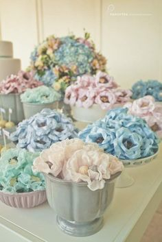 fiesta de cumpleaños de color rosa y azul 17