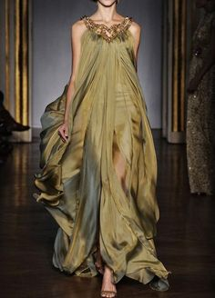 walkingthruafog:  Grecian green, don't like the dress too much but the fabric is heavenly!