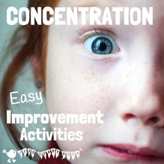 Activities that help improve concentration can be loads of fun to do together and can be easily incorporated into daily life