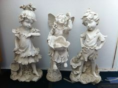 Delightful Large Garden FAIRIES. All 3 must be sold together. 18  Tall.