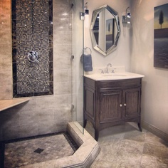 Basement bathroom design ideas - la luxury homes Basement House, Basement Bathroom, Washroom, Bathroom Renovations, Home Remodeling, Bathroom Ideas, Bathroom Plans, Bath Ideas, Shower Ideas