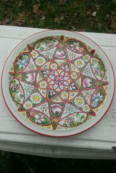 "Czech Ditmar Urbach Plate made in Czechoslovakia 9"" Awesome hand painte"