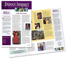 A newsletter was developed consistent with the overall brand to emphasize personal stories and let donors around the United States know what was happening with GOAF in their local communities. Adoption Gifts, Photo Wall, United States, Let It Be, Shit Happens, Photography, U.s. States