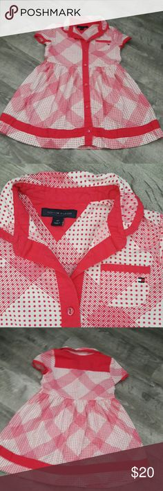 Tommy Hilfiger dress sz 4T Pink and white Like New. Beautiful dress. Pink and white Tommy Hilfiger Dresses
