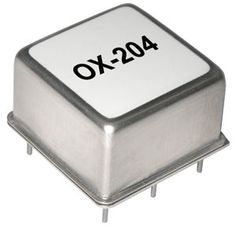 Vectron's 10 MHz OX-204 is an ultra low noise OCXO achieving phase noise performance of -135 dBc/Hz at 10 Hz offset and -175 dBc/Hz at 100 KHz offset