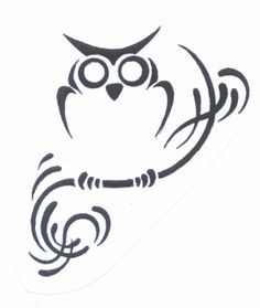 Tribal Owl Tattoos on Pinterest   Tattoo Outline Drawing, Simple ...