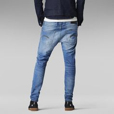 Funky Mens G Star Jeans Medium Aged Raw Riban Tapered