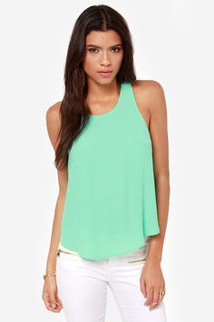 d48d5ccdec601f Cute Mint Green Top - Mint Tank Top - Tulip Top -  29.00 Mint Green Tops