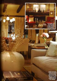 Inside Bella & Edward's cottage...I must say, I pictured it much differently in my head.