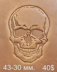 Risultati immagini per leather tooling skull pattern