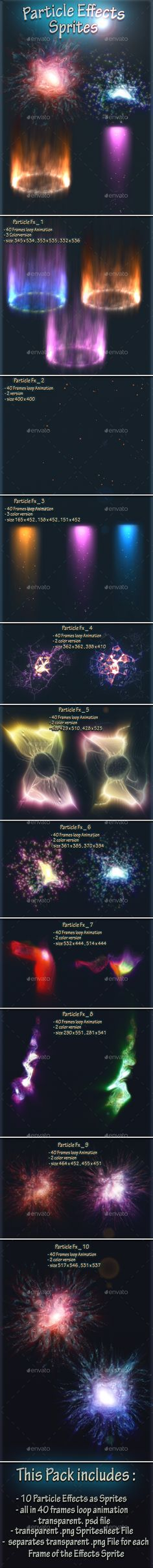 #Particle Effects Sprites - Sprites #Game Assets Download here: https://graphicriver.net/item/particle-effects-sprites/19791848?ref=alena994