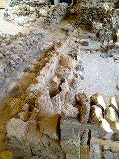 Minoan Ruins  Akrotiri  Greece