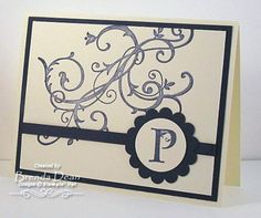 Lovely Letters Monogrammed Notes STAMPIN' UP! BAROQUE MOTIFS