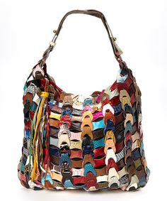 Look at this #zulilyfind! Rainbow Harlow Leather Hobo #zulilyfinds