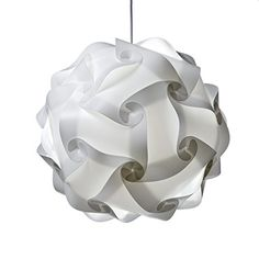 PUZZLE LIGHTS: White Modern Puzzle Lamp Shade.  This is great for a special occasion or everyday home decor, will give a beautiful warm light and have your guests asking where you got it!