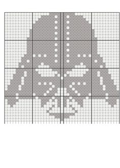 darth vader knitting scheme Схема вязания на ширину в 41 петлю