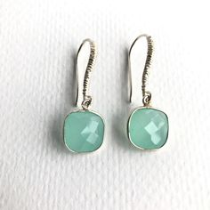 A personal favorite from my Etsy shop https://www.etsy.com/listing/463044600/stone-earringschalcedony-faceted-stone
