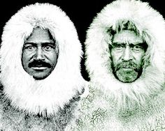 Image of Matthew Henson and Robert Peary.  Peary hired Henson to go on his expeditions. Their group has been recognized as the first to reach the North Pole. Henson and Peary went on many expeditions to explore Greenland and the Arctic Circle. Henson learned the survival skills of the Eskimo people. Find out more: http://easyscienceforkids.com/all-about-matthew-henson/