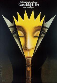 Die Zauberflote - Mozart, Polish Opera Poster: Polish Posters Shop Wieslaw Rosocha
