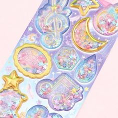 Floral Metallic Foil Colourful Glitter Stickers 15cm Card Embellishments Sheet