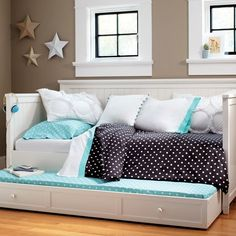 Ideas Bedroom Ideas For Teen Girls Daybed Built Ins For 2019 Teen Girl Bedrooms, Big Girl Rooms, Teen Bedroom, Bedroom Sets, Dream Bedroom, Bedroom Decor, Blue Bedroom, Girls Daybed, Daybed Ideas For Girls