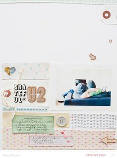 Scrapbook Layout | 8.5 X 11 Page | Scrapbooking Ideas | Creative Scrapbooker Magazine   #scrapbooking #8.5X11layout