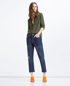 Image 1 of MILITARY STYLE SHIRT from Zara