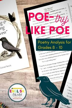 Are you looking for a halloween activity for middle school? Use this Edgar Allan Poe Poem resource to engage your students in a spooky and creepy Halloween lesson. Have your students analyze the poem, and dive deep into reading comprehesion. Have your students also participate in creative writing, as they try to write like Poe. | Halloween Activities for Middle Schoolers | Halloween Activities for Middle School ELA | Halloween Activities Middle School | Middle School ELA