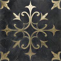 Solid parquet floor tile / aged