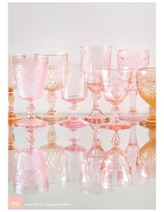 It would be so great to use blush goblets at cocktail!!! I'll look for some but otherwise the cocktail hour florals will be in these but clear