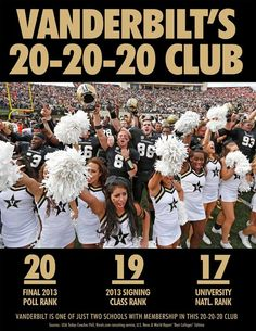 Vanderbilt is one of just two schools in the exclusive 20-20-20 club. http://www.vucommodores.com