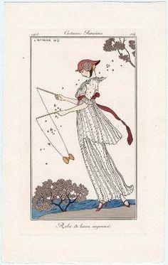 """""""Robe de linon imprimé"""", Journal des Dames et des Modes, 1913; MFA 63.2553"""