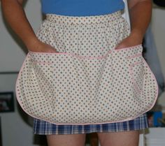 clothespin apron (blogger used Simplicity pattern 4282 with some modifications)