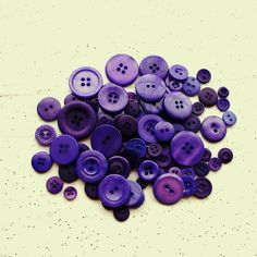 100  Dark Purple Buttons - Dioxazine Purple - Royal Purple Assorted sizes -  Grab Bag - Crafting -  Jewelry -  Collect (b815 -)