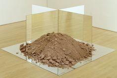 "NONSITE - ESSEN SOIL AND MIRRORS Robert Smithson 1969 Twelve mirrors, soil Each mirror: H: 36"" W: 36"" Overall: H: 36"" W: 72"" D: 72"" San Francisco Museum of Modern Art"