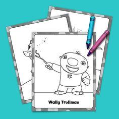 Wallykazam! Coloring Pack