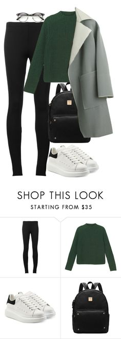 """Untitled #1578"" by rowan-asha ❤ liked on Polyvore featuring Puma, Monki, Alexander McQueen and Balenciaga"