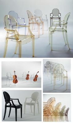 Kartell The Famous Plastic Culture Ghost chairs