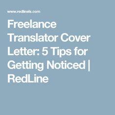 Freelance Translator Cover Letter: 5 Tips for Getting Noticed | RedLine