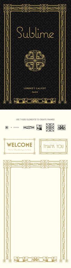 Art Deco Decorative Frames. Download 275 Vector frames.