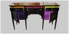 Color drawer sideboard