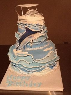 Marlin Birthday Cake Birthday Cakes Pinterest Birthday cakes