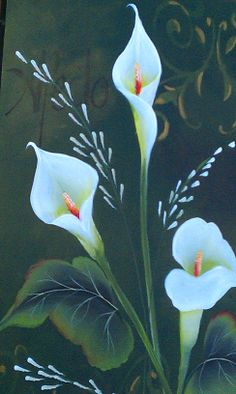 Lily Painting, One Stroke Painting, Painting & Drawing, Beginner Art, Beginner Painting, Donna Dewberry Painting, Bird Houses Painted, Painting Lessons, Nature Paintings