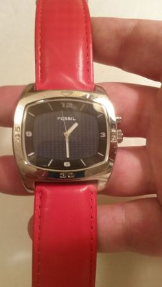 FOSSIL BIG TIC MENS WATCH, COOL DESIGN SCREEN CHANGED COLOR CARBON FIBER FACE #Guess #Casual